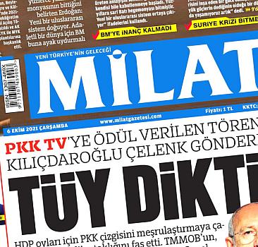 6 Ekim 2021 Milat Gazetesi