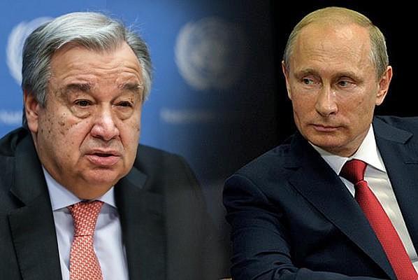 Putin ile Guterres Filistin meselesini görüştü