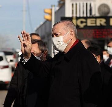Başkan Erdoğan'dan esnafa ziyaret