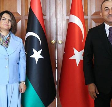 Çavuşoğlu, Libyalı mevkidaşı ile görüştü
