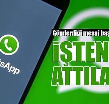 Whatsapp'ta patronu hakkında yazdığı mesaj başını yaktı