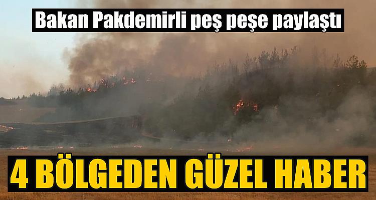 4 bölgede yangınlar kontrol altına alındı