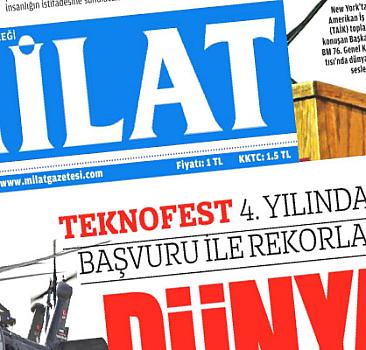 22 Eylül 2021 tarihli Milat Gazetesi