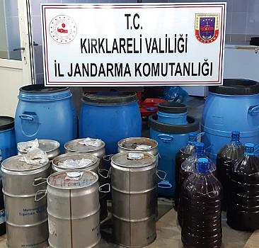 Kırklareli'nde 3 bin 746 litre kaçak içki ele geçirildi