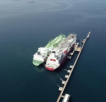 Ertuğrul Gazi'ye ilk LNG nakli başarıyla tamamlandı