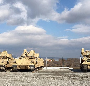 ABD Türkiye sınırına zırhlı araç yığdı