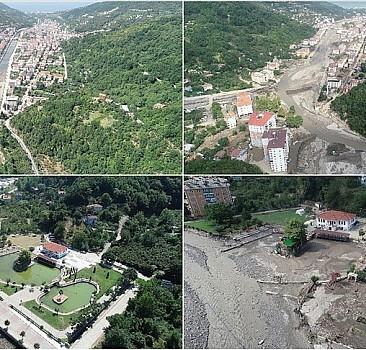 Bozkurt, sel felaketinin ardından yeniden görüntülendi