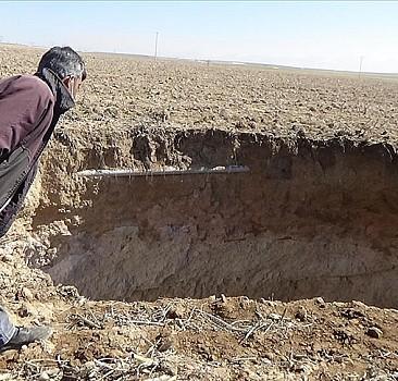 Konya'da korkutan görüntü! Derinliği 40 metre