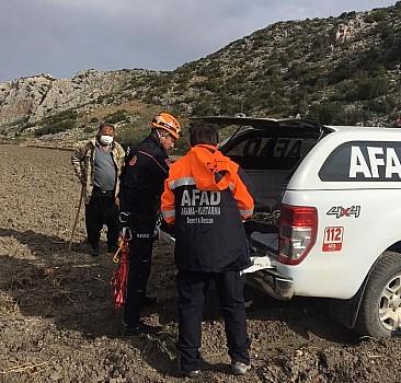 Kayalıklarda mahsur kalan iki keçiye AFAD yetişti