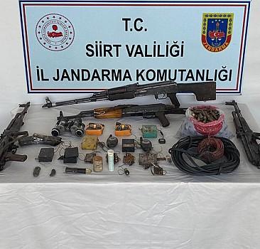 PKK'lılara ait silah ve mühimmat ele geçirildi