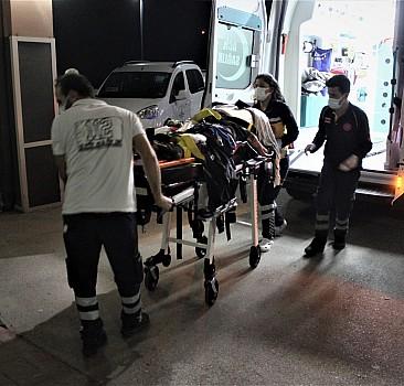 Tarım işçilerini taşıyan minibüs takla attı: 16 yaralı