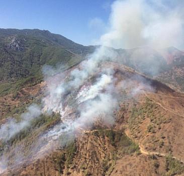 Anamur'da çıkan orman yangınına müdahale ediliyor
