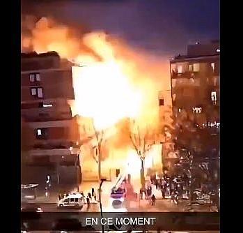 Fransa''daki patlama anı!