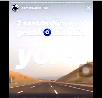Demet Akalın İstanbul-İzmir yoluna hayran kaldı