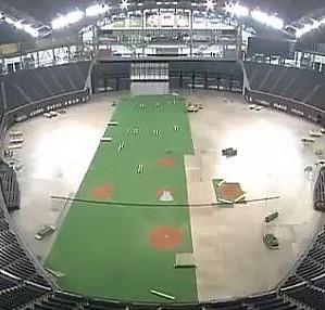 Beyzbol sahasının futbol sahasına dönüştürülüşü