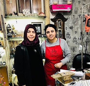 Türkiye''nin tek kadın sedefkarı