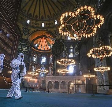 Ayasofya Camisi ilk bayramına hazırlandı
